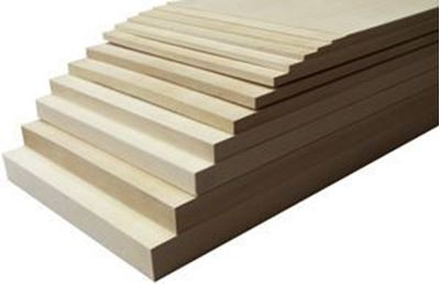 Picture of Basswood Sheets 8""