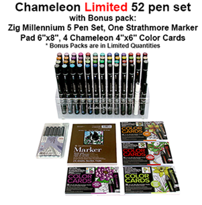 CLCT5202 Chameleon Limited 52 Pen Set With Bonus Pack