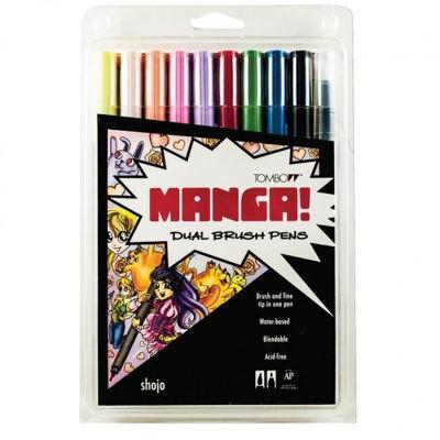 TB56173 Tombow ABT Dual Brush Pen 10 Set - Manga Shojo