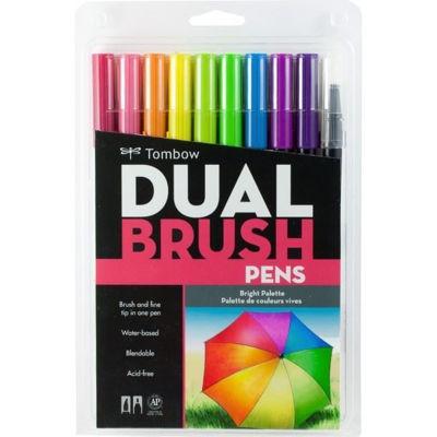 TB56185 Tombow ABT Dual Brush Pen 10 Set - Bright