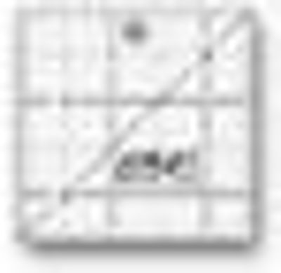 """2 1/2"""" Square Frosted Acrylic Ruler QR-2S"""