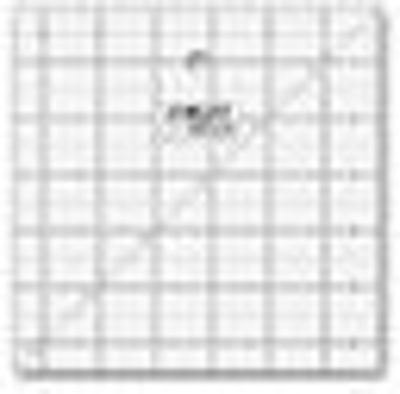 """6 1/2"""" Square Frosted Acrylic Ruler QR-6S"""