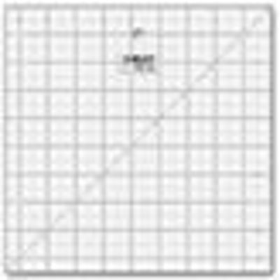 """9 1/2"""" Square Frosted Acrylic Ruler QR-9S"""