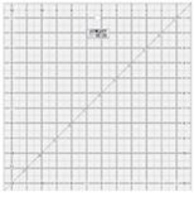 """12 1/2"""" Square Frosted Acrylic Ruler QR-12S"""