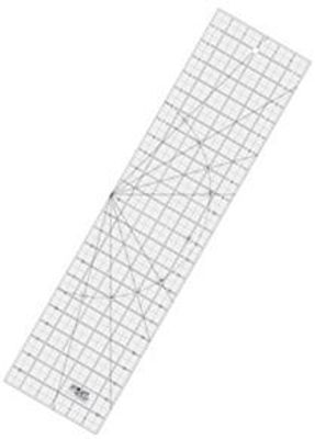 """6"""" x 24"""" Frosted Acrylic Ruler QR-6x24"""