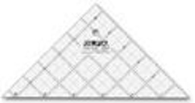 """6 1/2"""" Right Triangle Frosted Acrylic Ruler QR-6RT"""