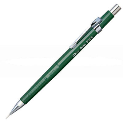 pl-pentel-sharp-0.5-mm-mechanical-pencil-green-barrel