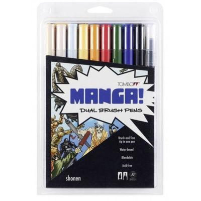 TB56172  Tombow Abt Dual Brush Pen 10 Set - Manga Shonen