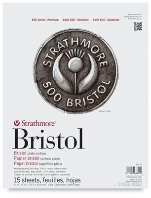 SM580-52 Strathmore Bristol Pad 2-Ply Plate - 11X17 24 Sheets