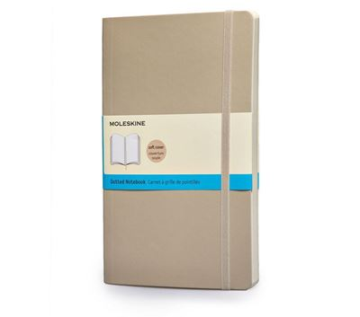 Moleskine Dotted Notebooks Khaki Beige