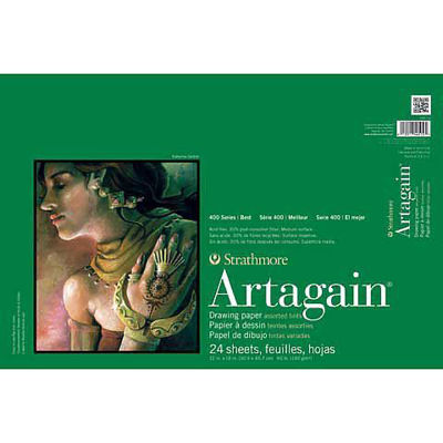 """SM445-9 Strathmore Artagain Recycled Paper Pads, 9""""x12""""- 24/Sht."""