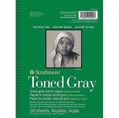 Strathmore Toned Gray Sketch Pads