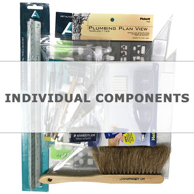 Drafting Kit Individual Components