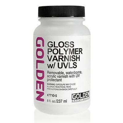 GD7710-5  Golden Polymer Gloss (W/Uvls) 8 Oz Silgan Wide Mouth Round