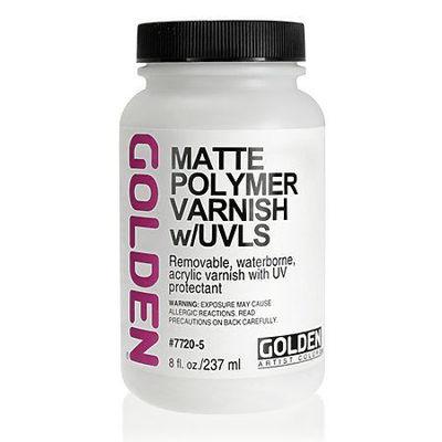 GD7720-5  Golden Polymer Matte (W/Uvls) 8 Oz Silgan Wide Mouth Round