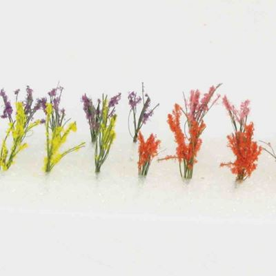 WE00301 WEESCAPES Flower Bush 1/2'' to 3/4'' Red-Pink-Yellow-Purple 20pk