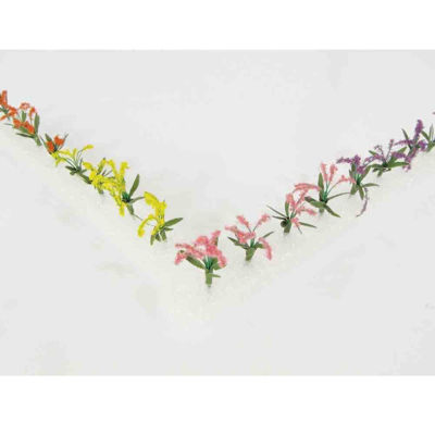 WE00303 WEESCAPES Flower Plants 3/8'' Red-Pink-Yellow-Purple 12pk