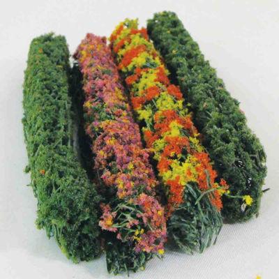 WE00305 WEESCAPES Flower Hedges 5''x3/8''x5/8'' Gree-Blossom Blended 4pk