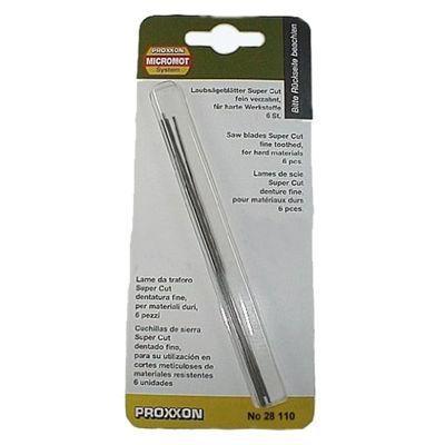 PX28110  Proxxon Super Cut Scroll Saw Blades For Wood, Course 14 Tpi, Set Of 6