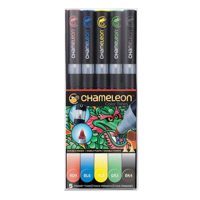 CLCT0502 Chameleon 5-Pen Primary Tones Set