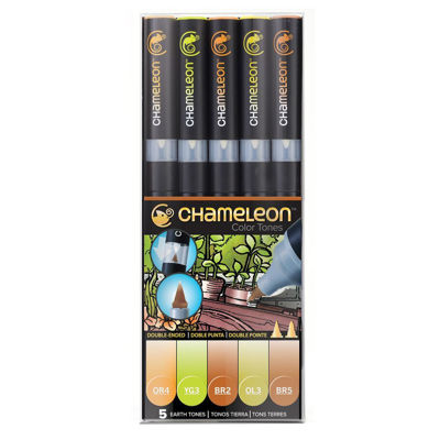 CLCT0503 Chameleon 5-Pen Earth Tones Set