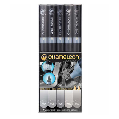 CLCT0509 Chameleon 5-Pen Gray Tones Set