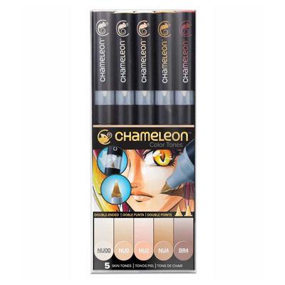 CLCT0510 Chameleon 5-Pen Skin Tones Set