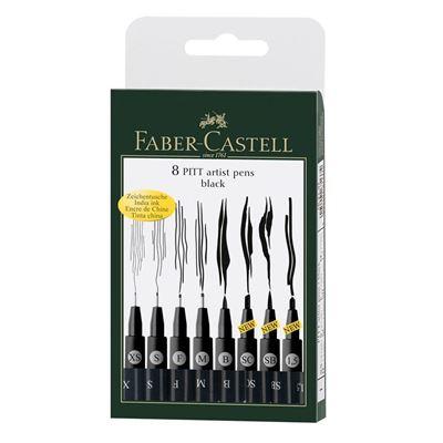 FC167137 Faber-Castell Pitt Artist Pen 8pk