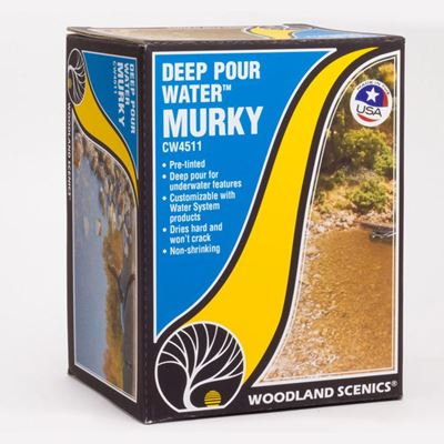 WSCW4511  Woodland Scenic Deep Pour Water - Murky