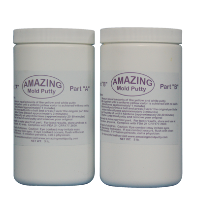 AU20203 	 Alumilite Amazing Mold Putty Kit 3lb