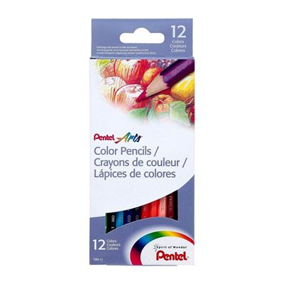 Pentel Color Pencils - Assorted Colors - 12-Pk